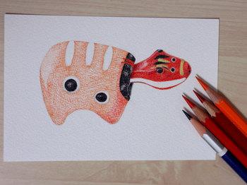 2013年7月7日*色鉛筆画、途中経過。。。